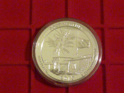 USA: America the Beautiful 5 Oz / Unzen Silber: 2013 Maryland Fort McHenry