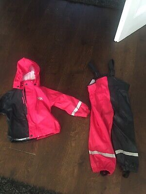Helly Hansen Girls Waterproof Jacket And Trousers Age 3 Years