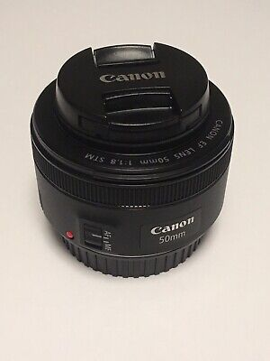 Canon EF 50mm f1.8 STM Lens with 2 UV Lens Filters