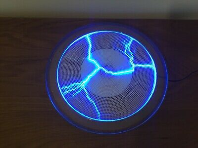 """9"""" Blue Plasma Plate On Off Sound Activated Used"""