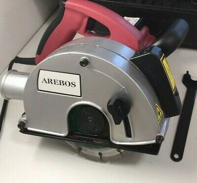Arebos Professional Wall Chaser with Laser Cutting Line Indicator 1700W+ Case