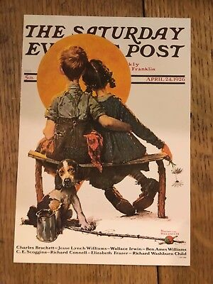 The Saturday Evening Post Child upbringing by Norman Rockwell NEW MDRN Postcard