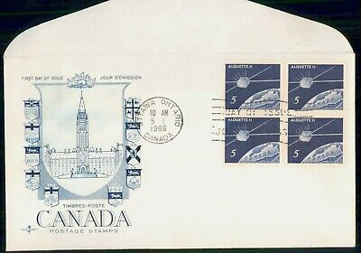 Mayfairstamps France 1966 Spacecraft Block Parliament Hill First Day Cover wwe_9