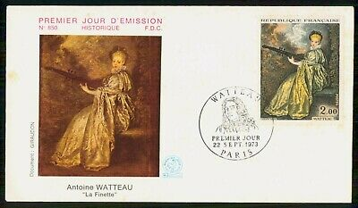 Mayfairstamps France FDC 1973 Painting Woman With Musical Instrument First Day C