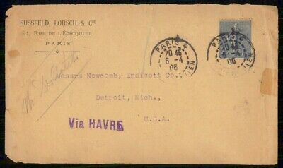 Mayfairstamps France 1906 Sussfeld Lorsch and Cie Paris Cover wwe_99435