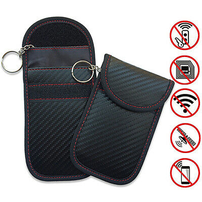 Carbon Fiber Car Key Bag Privacy Protection Case Pouch Protective Universal Fob