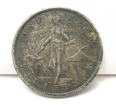 1905 Philippines United States One Peso .800 Silver Coin