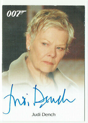 James Bond Archives 2009 Autograph Card Judi Dench as M in Casino Royale