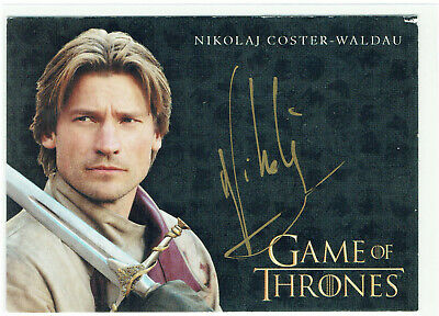 Game of Thrones Season 3 Autograph Nikolaj Coster-Waldau Jaime Lanniste *DAMAGED