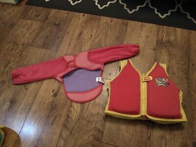 Girls Age 2-3 Years Swim Float Vest And Warmers