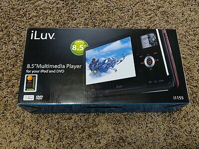 "iLuv 1155 8.5"" iPod Dock DVD Multimedia Player (NEW, Open Box)"