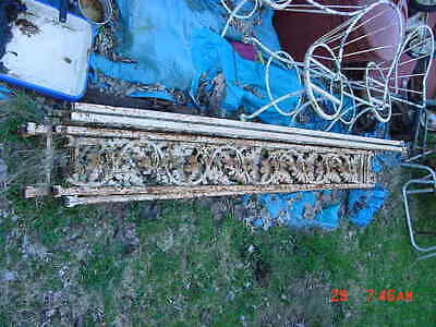 Antique Set Of 6 Architectural Salvage Victorian Cast Iron Porch Posts Columns