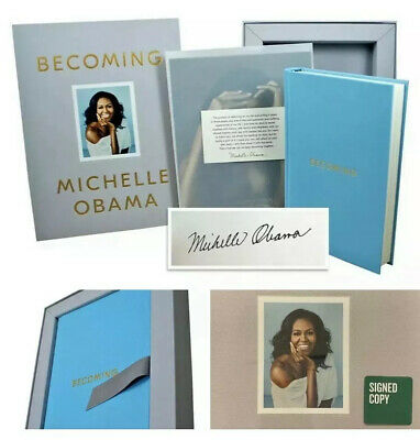 MICHELLE OBAMA SIGNED BECOMING DELUXE EDITION Autographed W/coa 1st Edition