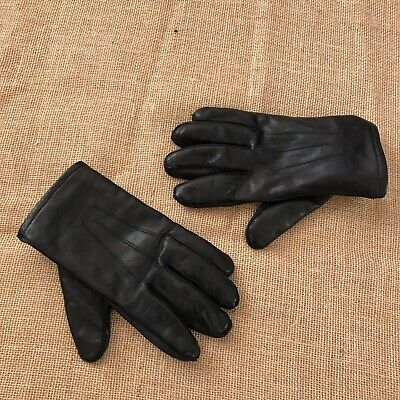 Wonderfit by Isotoner Women L Large  Black Leather Gloves Lined ARIS 115 Excelle