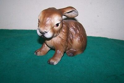 Vintage Brown Bunny Rabbit Figurine Made in Japan collectible decor