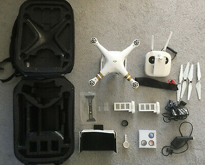DJI Phantom 3 Advance Quadcopter Camera Drone with ND filters and 2 Batteries