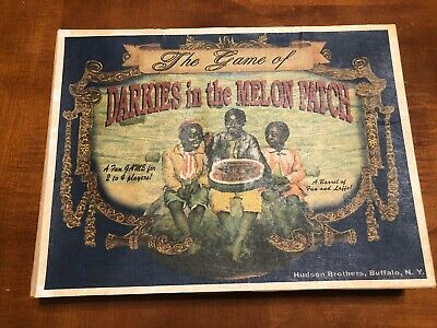 Black Americana The Game Of Darkies  In The Melon Patch Board Game Reproduction