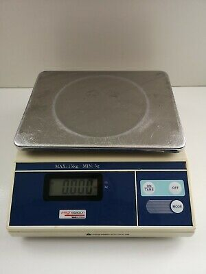 Weighstation Electronic Platform Scale 15kg White Stainless Steel (711)