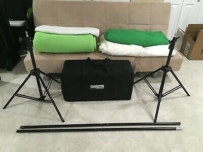 Photo Studio Digital Green screen 12'x12' White 12'x12' stand and case