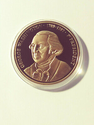 George Washington Greatest American Presidents24k Gold Layered Proof Medal (167)