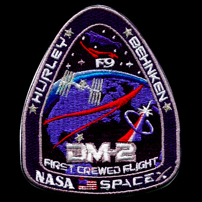 Authentic DM-2 First Crewed Flight SpaceX Nasa Patch AB Emblem FREE SHIPPING