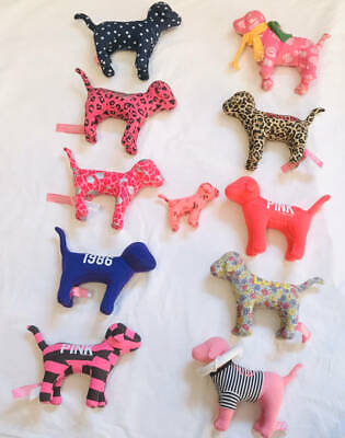Victorias Secret PINK Dogs VS Plush Lot Of 11 Collectables Mixed