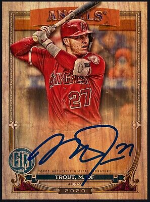 Topps Bunt 2020 MIKE TROUT Gypsy Queen Wood Signature Boxloader [DIGITAL CARD]