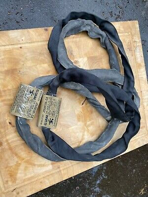Lot Of 2 LiftAll GAC60X3 3' Wire Rope Core Polyester Cover Round Sling Used