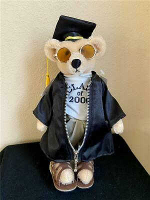 "Cooperstown 10"" Millennium GRADUATION Mohair Boy Bear, A/O, MINT with TAGS! 2000"