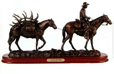 """RARE Vintage Montana Silversmiths Lifestyles Sculpture ~ """"One For The Wall"""" NICE"""