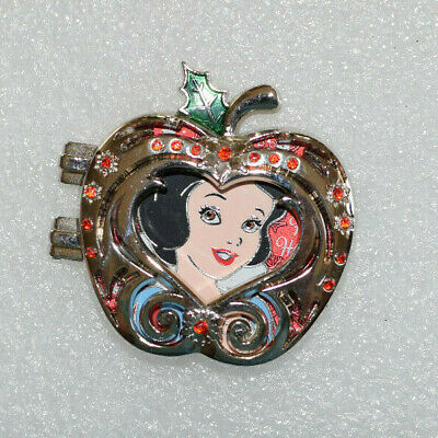 Disney Pin 125214 Cast Exclusive - Holiday 2017 - Silver Snow White Apple PP LE