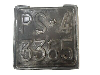 Italian 1950's Scooter/Motorcycle  Number Plate &Holder Suit GS150,160