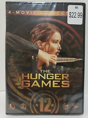 🔥 The Hunger Games 4-movie collection 4-DVD set Catching Fire, Mockingjay 1 & 2