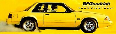 """REPRODUCTION BF GOODRICH RADIAL T/A ADVERTISING BANNER FORD MUSTANG 12"""" x 40"""""""