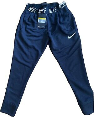Nike Girls Dri Fit Black Track Suit Bottoms Small