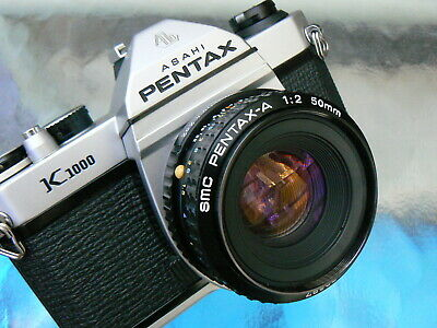 Pentax K1000 Camera W/Pentax-A 50Mm F2 Lens *Tested Manual 35Mm Slr Camera Mint-