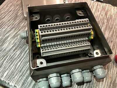 Rittal KL 1521 Stainlesss Steel  Terminal Box Enclosure 150* 150* 80mm & connect
