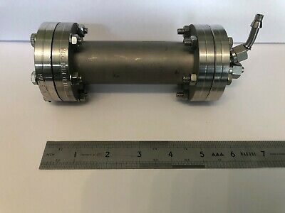 """UHV Vacuum Extension SS Tube 2 3/4"""" *6"""" with window DN35C  1/4"""" sampling tubes"""