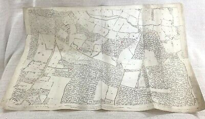 1875 Antique Map of Stoke Poges Buckinghamshire Farnham Royal Fulmer common