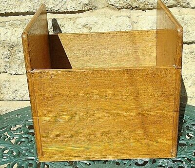 Vintage Art-Deco 1930'S Solid English Oak Hand Dovetail Filing/Storage Box