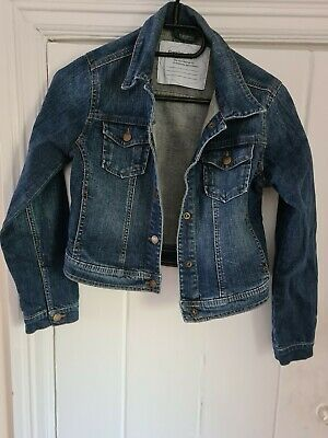 Gap Girls Blue Denim Jacket Size Medium Age 10-12 Years