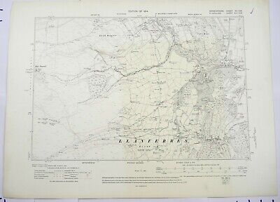 1914 OS 6 inches to a mile Map of Denbighshire – Llanferres XVSW