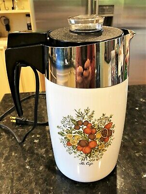 Corning Ware Spice of Life Le Cafe' 10 Cup Electric Coffee Pot E-1210-8