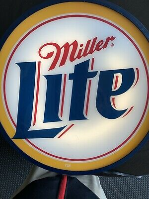 Oval Miller Lite- Light Up Sign