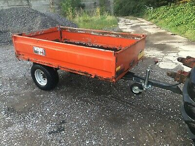 Wessex One Ton Tipping Trailer With Drop Sides Fits Your Compact Tractor