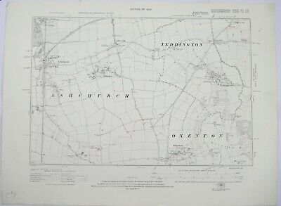 1924 OS 6 inches to a mile Map of Gloucestershire – Teddington XIISE