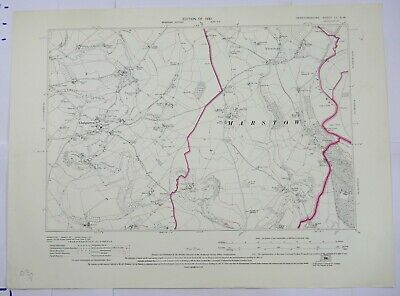 1930 OS 6 inches to a mile Map of Herefordshire – Marstow LISW