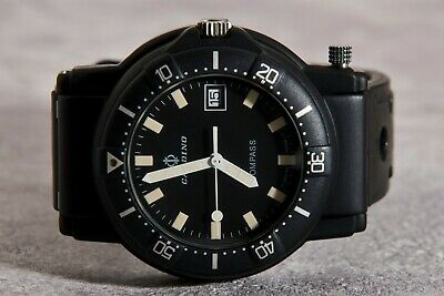 Vintage 1990S Candino Compass Black Pvd Top Condition Rare Man Watch⌚⌚⌚