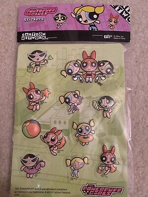 Vintage POWERPUFF GIRLS 3D Puffy Stickers - 2 Sheets - 18 Stickers - NEW
