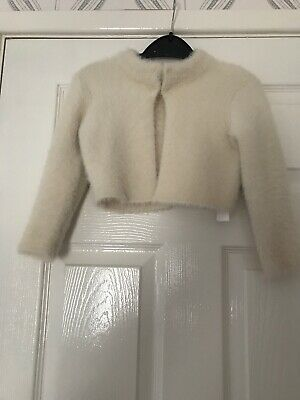 Zara Girls Knitwear Winter Collection Cream Shrug Cardigan/Jacket Age 5 Vgc